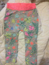 Bonds Stretchies Grey Floral Leggings Sz 2 Postage (c28)