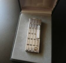 Stunning Rare Design Dunhill Rollagas Lighter -Silver Plated - Boxed - Near Mint