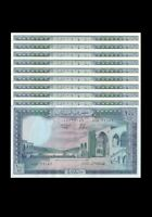 LEBANON 100 LIVRE 1988 / LOT OF 10 CONSECUTIVE NOTES ( GEM UNC ) LARGE NOTES