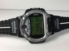 Rare Timex Ironman Triathlon Data Link Vintage Digital Watch Blue Space NASA