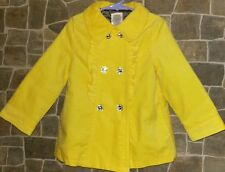 EUC Gymboree bright yellow velvet jacket 3T/4T