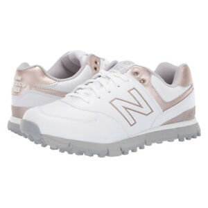 New Balance NBG574SL Women's Spikeless Golf Shoe,  7 Wide White/Rose Gold