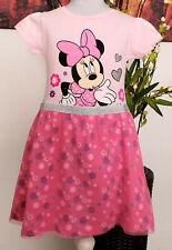 Minnie Mouse Disney Mädchen Kleid Gr. 134 Sommerkleid Tunika kurzarm Babykleid