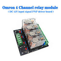 (US) Omron 4 Relay Four Panels Driver Board DC 12V Input Signal PNP