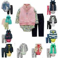 Infant New born Baby Long Jumpsuit Romper Bodysuit Cotton Clothes Outfit