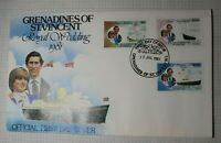 Grenadines St Vincent Royal Wedding 1981 Princess Diana FDC Sc# 627-632 Set 2