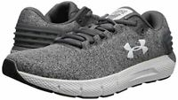NIB MEN'S UNDER ARMOUR 3021852 100 CHARGED ROGUE TWIST GREY SNEAKERS SHOES $90