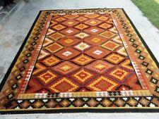 New Afghan Oriental Handwoven Ghazni Wool Kilim Carpet Area Rug 6 x 9 Ft