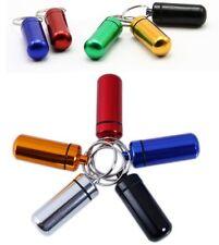 Medicine holder keyring keyclip Aluminium tablets and pill holder drug container
