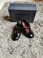 Clarks Girls Jamie Sky Black Patent School Shoes Size UK 9F EUR 27