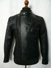 Men's Vintage 1980'S Biker Punk Leather Jacket 40R(S)