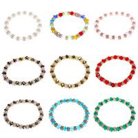 CRYSTAL DIAMANTE GLASS BEADED STRETCH FRIENDSHIP BRACELET BANGLE - 9 Colours!