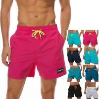 Men's Casual Beach Board Shorts Quick Dry Swim Surf Sport Trunks Swimwear Pants