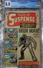 Tales of Suspense 39  CGC 3.5  White Pages!