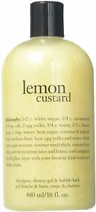 Lemon Custard Shampoo Shower Gel & Bubble Bath by Philosophy, 16 oz