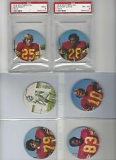1974 USC TROJANS DISC 30 SUBJECTS 2 PSA GRADED WITH USC FOOTBALL NM-MT MINT