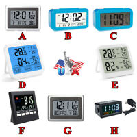 8Kinds Wall Clock&Thermometer Table Stand LARGE Temperature Date DISPLAY Digital