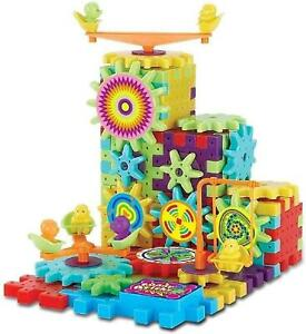 IQ Building Blocks Bricks Gears Educational Brain Creative Puzzle 3D Fun Toy