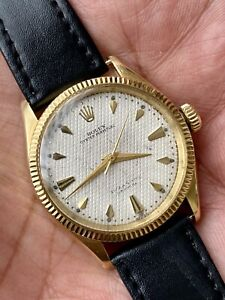 RolexOyster Perpetual 6285-1 Bubbleback Circa 1955 18K Yellow Gold Automatic