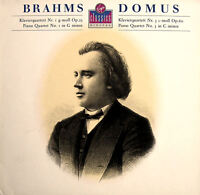 VC7 90709-1 Brahms Piano Quartet 1 & 3 Domus Quartet 1988 NEAR MINT + insert