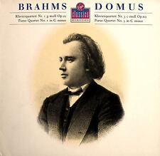 Brahms Piano Quartet 1 & 3 Domus Quartet 1988 NEAR MINT + insert [VC7 90709-1]
