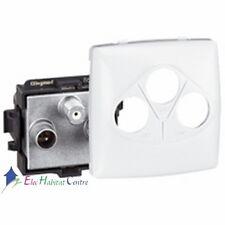 Prise TV/FM/SAT appareillage saillie composable - blanc Legrand 86142