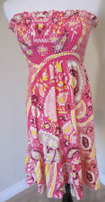 RARE Juicy Pink Paisley MARTINIQUE Smocked Dress S NWT