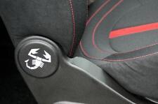 Abarth 500 595 Fiat 500 Scorpion seat sticker set.