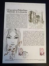 FRANCE MUSEE POSTAL FDC 11-78  EXPO PHILATELIQUE DE LA JEUNESSE 0,80F NIORT 1978