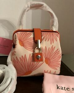 Kate Spade Remedy Grand Daisy Satchel Pink Multi/Gold NWT Mini