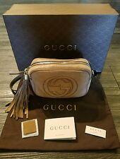 Authentic Gucci Soho Nubuck Leather Disco Crossbody Bag