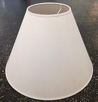 Lampenschirm für Hängeleuchte aus Baumwolle weiß Ø37 cm E27 konisch Stoff Schirm