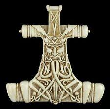 relieve de pared - Thors Hammer Mjolnir - Blanco - MAXINE Miller Vikingos Diós