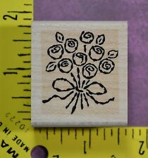 ROSE BOUQUET wedding flowers love Stampin' Up! rubber stamp #2504