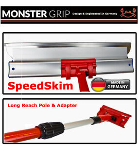 MonsterGRIP Speedskim Long Reach Pole & Adapter, Plastering and Finishing Rule