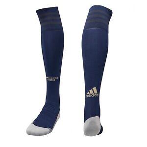 Boys Youths Official Manchester Utd Adidas Blue Third Football Socks UK Size 2-6
