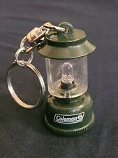 Vintage COLEMAN LANTERN LIGHT UP KEYCHAIN KEYRING GREEN NEEDS BATTERIES