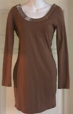 Camel color dress with low back