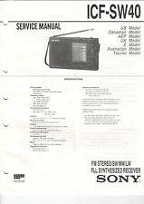 SONY Service Manual Konvolut ICF-SW35 SW40 - B2029