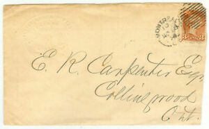 Canada cover - Montreal to Collingwood (ON) - Victoria 3 Cent - cover596