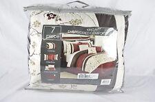Hallmart Collectibles Bella Donna 7 Piece QUEEN Embroidered Comforter Set T621