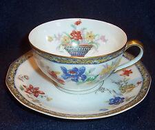 4 Sets Haviland Limoge GANGA Table Coffee Tea Flat CUP SAUCER Dish Coromandel