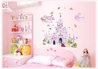 Wandtattoo Kinderzimmer Disney Prinzessin Mädchen Wandaufkleber Schloß Princess