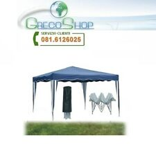 Gazebo pieghevole impermeabile in alluminio 3x3m Blu