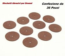 Dischetti Abrasivi da 23mm per Mini Trapano come DREMEL PROXXON EINHELL (36pz.)