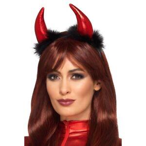 Metallic Devil Horn Headband Ladies Devils Halloween Fancy Dress Accessory