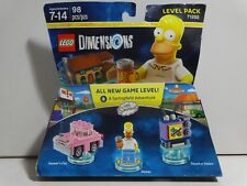 LEGO Dimensions Homer the Simpsons 71202 Level Pack Mini Figure car tv BUZZ Cola