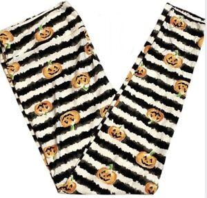NWT LuLaRoe TC Leggings Halloween Stripes And Pumpkins