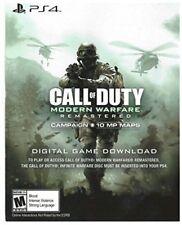 PS4 Call of Duty Modern Warfare Remastered Voucher  *READ DESCRIPTION*