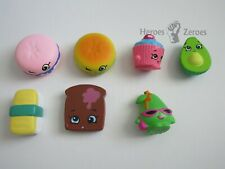 Shopkins Lot of 7x Slow Rise Figures Avocado Sushi Toast Cupcake Pear Macaroon